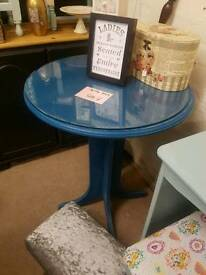 Glass topped bistro height table
