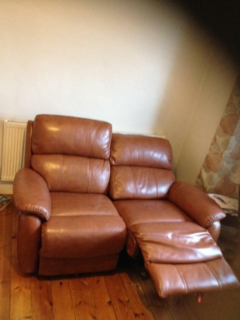 Dfs Navona Power Recliner Two Seater Brown High Quality