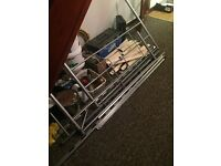 Double metal bed frame, good condition £10- collection only from Roche