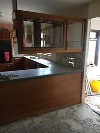 Mahogany kitchen unit