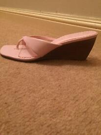 Pink wedges new look size 5