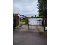 Black Wrought Iron Drive Gates