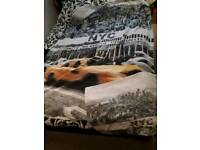 SINGLE DUVET COVER WITH MATCHING PILLOW CASE NEW YORK PRINT ON