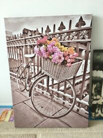 Scenic Bicycle Print Canvas