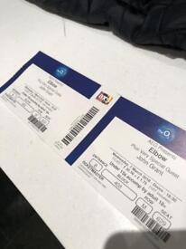 2 Elbow tickets, face value Wednesday 7th