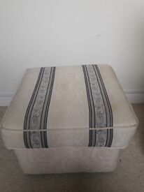Blue and cream footstool