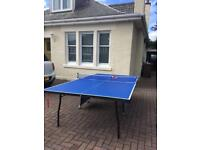 Full size folding table tennis table and accessories for sale £75 ono