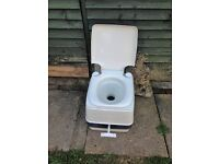 White Portable Chemical Camping toilet
