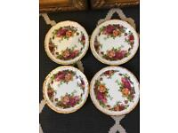 Royal Albert Old Country Rose Coasters/ Butter/ Trinket Dish