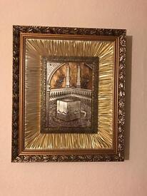 Mecca & Medina gold frame set
