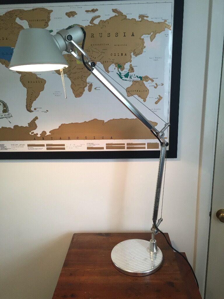Artemide Tolomeo Mini Aluminium Standard Base Desk Lamp Light In
