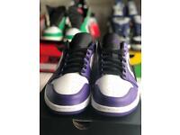 Air Jordan 1 low court purple trainers