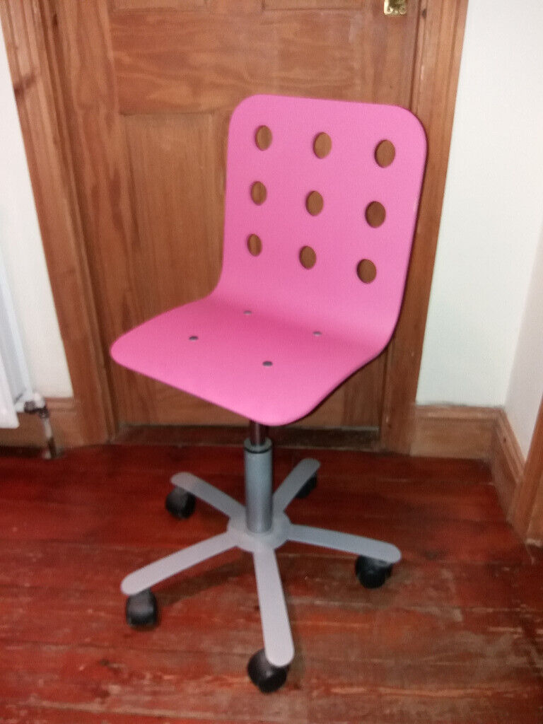 Peachy Ikea Jules Swivel Childrens Desk Chair Pink In Wimbledon London Gumtree Gamerscity Chair Design For Home Gamerscityorg