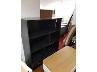high gloss 2 door bookshelf