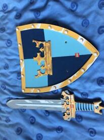 Legoland sword and shields pink and blue