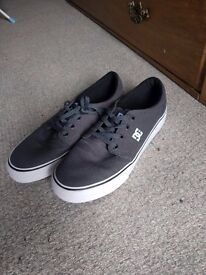 DC grey trainers size 8