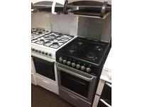 Black & silver flavel 50cm eye level gas cooker grill & oven good condition with guarantee