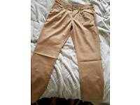 Chino trousers biege size 12