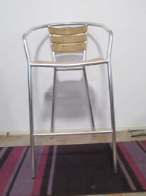 """HIGH STOOL IN PERFECT CONDITION. 42"""" HIGH X 21"""" WIDE"""