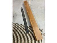 Oak mantle beam & bracket