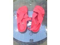 Ladies size 7 Next red sandals