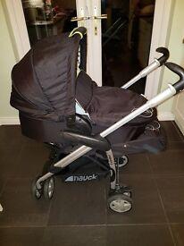Hauk pram carrycot and stroller set like new