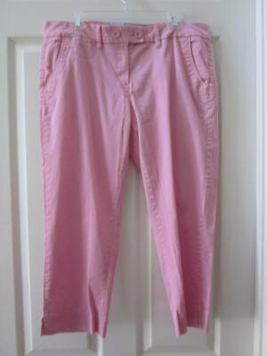 TOMMY HILFIGER Pink Flat Front Cropped Pants Sz 14
