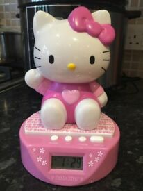 Hello Kitty clock and money box, purse & kitty that changes colour