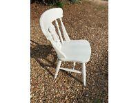 3 x Fiddleback pine chairs