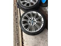 "BMW 18"" MV2 alloys with excellent tyres"