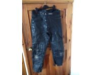 Ashman men's leather bike trousers