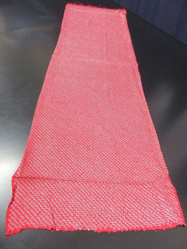 FF#2341Ad40 Vintage Silk Kimono Fabric Shibori 43.3x11.8in(110x30cm)