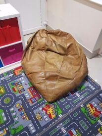 Giant Real Leather Bean Bag