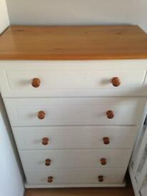Wardrobe and chest of drawers set! Painted in Annie Sloan chalk paint