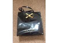 Ted baker black patent tote bag. Hardly used