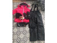 Trespass ski bundle clothes and accessories size small ladies or girls age 13+