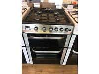 SERVIS BRAND NEW 60CM ALL GAS COOKER IN SHINY SILIVER