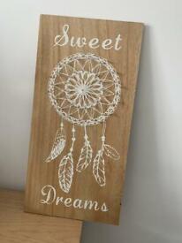 Sweet dreams dreamcatcher hanging art