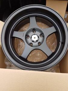 Spoon style 17x8.5 5x114.3 +28 gunmetal or bronze in stock with lip