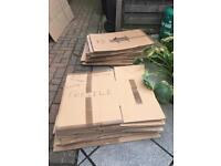 31 Cardboard Boxes and 5 Garment Carriers/Wardrobes for house move