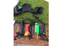 Diving equipment - gloves / waterproof torches/ lead weights/ knife/ surface marker/ hats