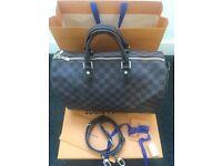 Louis Vuitton Speedy 35 Damier Ebene Bandouliere