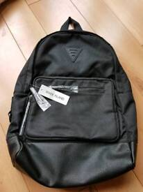 Brand New Black River Island Backpack With Tags RRP £28