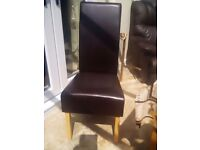 X4 faux leather dining table chairs only no table
