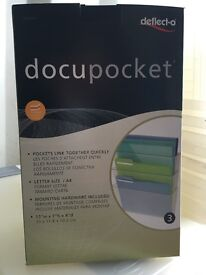 Deflect-o Docupockets stackable wall mounted, letter size 3 per pack