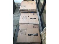 33 cardboard boxes