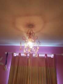 Pink jewel ceiling light