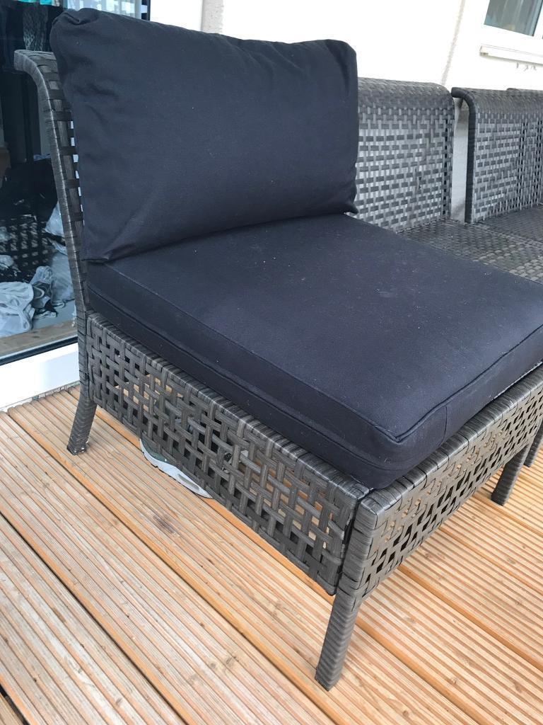 Ikea Decking Patio Chair W Seat Pad Back Cushion In Castle  # Meuble Tv Kaorka Ikea