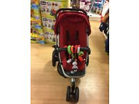 Quinny Buzz Xtra Red Pushchair with Carrycot and Maxi-Cosi Car Seat