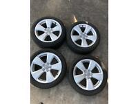 "Original Audi alloy wheels 17"" good tyres"